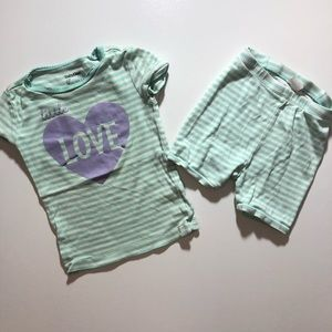 FREE WITH PURCHASE OVER $12! 3T Girl PJs Summer